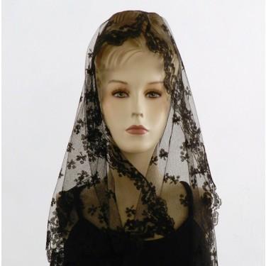 Mantilla de encaje antiguo de Blonda 112 x 60 cm #A1104
