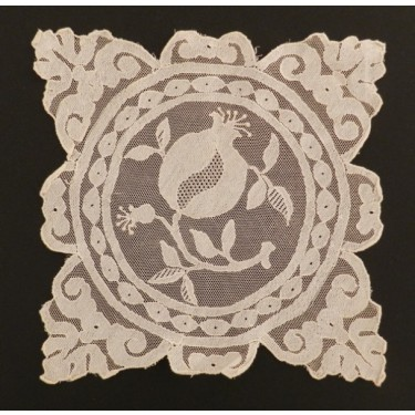 Antique lace handkerchief from Granada (Spain) 17,7 x 17,7 cm #A1407