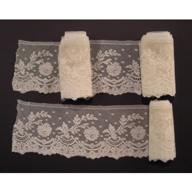 Antique lace strip from Valenciennes (France) in three pieces 825 x 11 cm #A1920