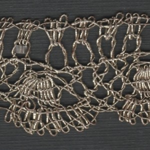 "Lace edging strip, in erudito lace, ""stitch from Spain"", end of the 16th century. 236 x 2,5 cm #A1301"