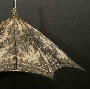 Parasol with lace from Chantilly (France) 90 cm #F0101