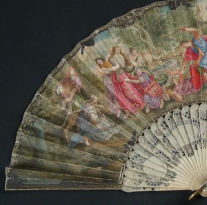 Fan of the 18th century. 29,5 cm #D0009