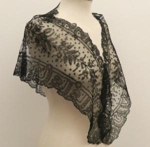 Lace mantelet for woman 50 x 132 cm #A1002